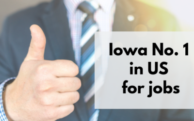 Report ranks Iowa No. 1 state for jobs