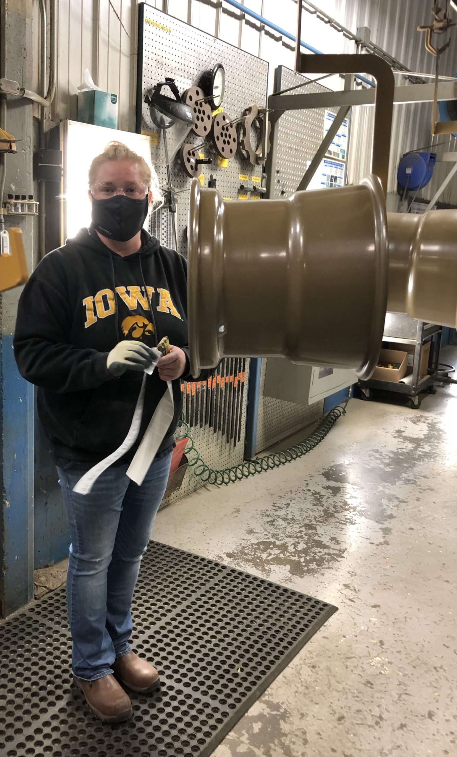 Amanda Hersleff of GKN Armstrong Wheels in the workplace.